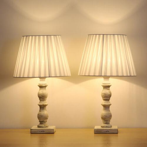 white bedside table lamps set of 2