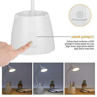 LED Reading Light Dimmable Rechargeable Touch Control