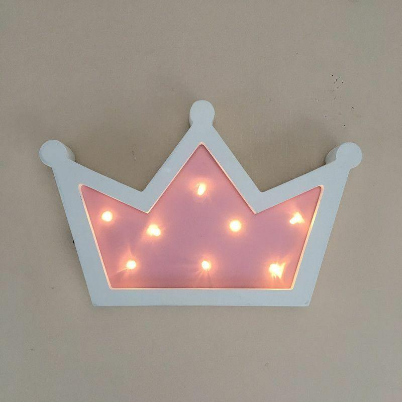Wooden Crown Led Light Lamp Pendant Wall Hanging Lamp