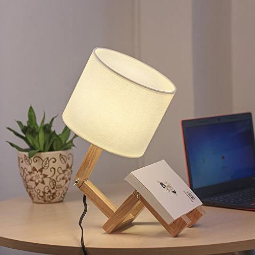 HAITRAL Swing Arm Lamp - Modern Table Bedside Bedroom, Kids