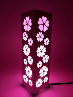 LED Table Desk Lamp Night Light For Sleep,Multi Pattern,Pink