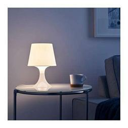 Ikea Lampan White Table Lamp Soft Lighting- Includes FREE BU