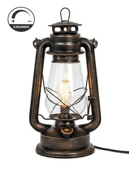 Dimmable Electric lantern lamp with Edison bulb Included Rus
