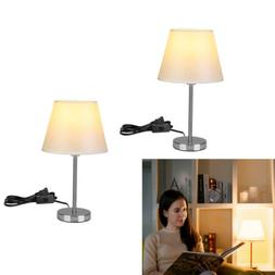 LE LED Bedside Table Lamp Desk Light Nightstand Lamps With F