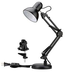 LE Swing Arm Desk Lamp, Metal Clamp and Standing Table Lamp,