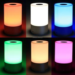LED Bedside Lamp Touch Table Lamp Dimmable Warm White Light