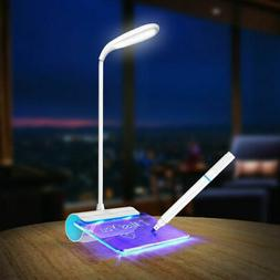 LED Desk Table Reading Touch Switch Light Lamp USB Rechargea
