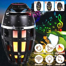 LED Flame Light bluetooth Speaker Table Lamp Torch Atmospher