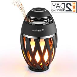 LED Yellow Flame Table Lamp Torch Atmosphere Bluetooth Stere