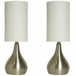 Light Accents Set of 2 Modern Table Lamps 18 Inches Tall wit