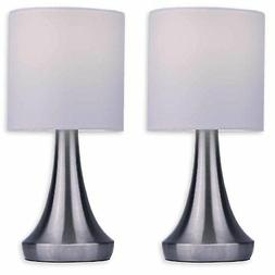 "Light Accents Touch Table Lamp Set - Stands 13"" Tall Accent"