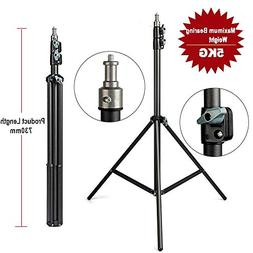 Dunnomart 2m Light Stand Tripod with 1/4 Screw Head with Cam