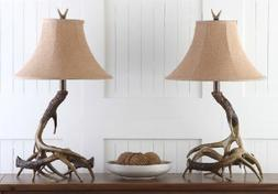 Safavieh Lighting Brown Driftwood Antler Rustic 25 inch Tabl