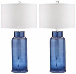 Safavieh Lighting Collection Bottle Glass Blue 29-inch Table
