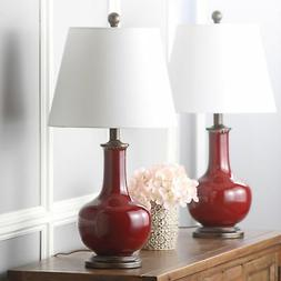 Safavieh Lighting Collection Carolanne Red 25-inch Table Lam
