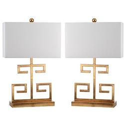 Safavieh Lighting Collection Greek Key Gold 24-inch Table La