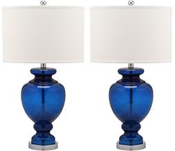 Safavieh Lighting Collection Navy Glass 28-inch Table Lamp