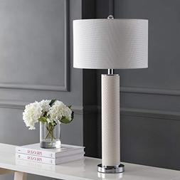 Safavieh Lighting Collection Ollie Cream Faux Woven Leather
