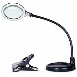 Brightech LightView Pro Flex Magnifying Lamp - 2 in 1 Clamp