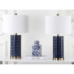 Safavieh LIT4152A-SET2 Roxanne 26-Inch Table Lamp, Navy, , S