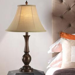 Home Source Industries LMP12577 Modern Table Lamp with Linen