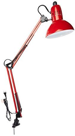 Lite Source LS-105RED Desk Lamp with Red Metal Shades, Red F