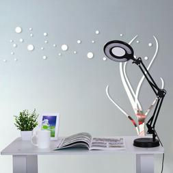 Magnifier Task Lamp Adjustable Table Lamp Desktop , Clamp-On