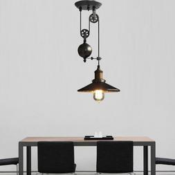 Metal Creative Pulley Design Black Iron Painted Industrial V