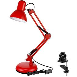 TORCHSTAR Metal Swing Arm Desk Lamp, Interchangeable Base Or
