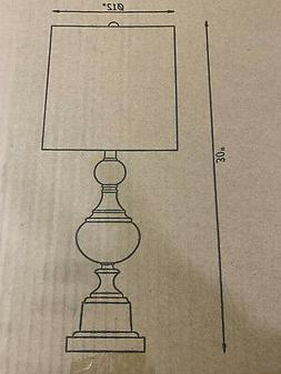 Kenroy Home Michele 30 in. Table Lamp with White Shade 32780