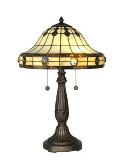 Mission Two Light Table Lamp in Antique Golden Sand