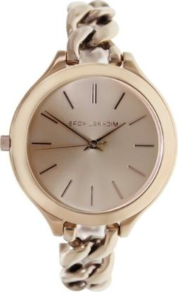 Michael Kors Women's MK3223 Slim Runway Rose Gold-Tone Stain