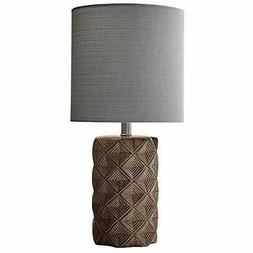 modern ceramic table lamp with geometric patterned