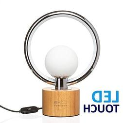 Modern LEDGloriole Desk Lamp with Unique Shade – Bedroom L