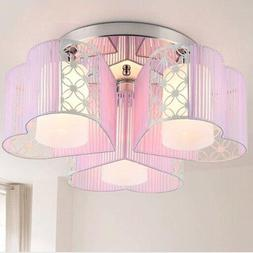 LightInTheBox Modern Art Deco Fabric Chandelier Pink Pendant