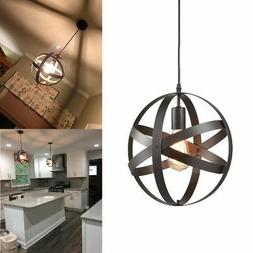 Modern Style Farmhouse Chandelier Lamp Candle Orb Pendant 1
