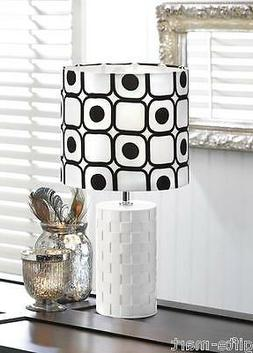 Modern Geometric Pop Art Black And White Shapes Table Lamp S