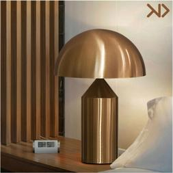 Modern Gold Mushroom Head Table Lamp Classic Metal Desk Lamp