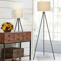 modern table floor lamp set black desk
