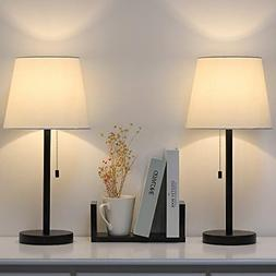 Modern Table Lamp Set of 2, Bedside Lamps for Bedroom, Livin