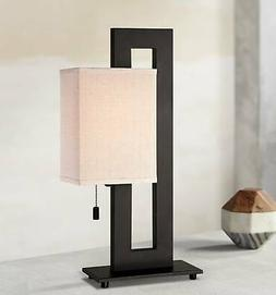 modern table lamp espresso bronze floating rectangular