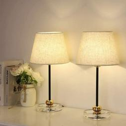 Modern Table Lamps - Bedside Nightstand Lamps Set of 2 Night