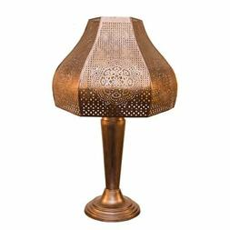 River of Goods Moroccan Solar LED Outdoor Table Lamp