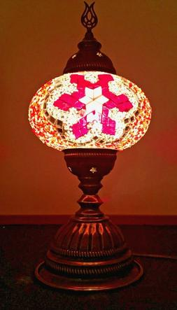 Mosaic Table Lamp Stained Glass Turkish Moroccan Light Hand