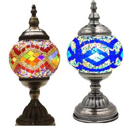 Mosaic Handmade Turkish  Lamp Table Glass  Moroccan Style El
