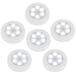 ZEEFO 6 Pack Motion Sensor Light, Battery Powered LED Night