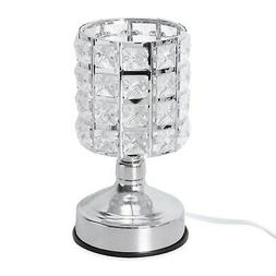 """3 Stage Touch Dimmer Glass Shape Table Lamp 7.5x4"""""""