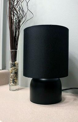 New Sunbeam Modern Table LAMP with Black Fabric Shade and Me