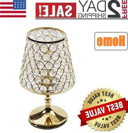 NEW! Crystal Table Lamp Decorative Bedside Desk lamp with Go