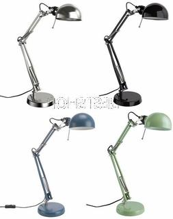 NEW IKEA FORSA DESK WORK LAMP ARM AND HEAD ARE ADJUSTABLE BL